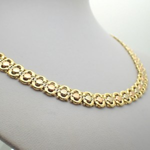 Tricolor gouden ketting