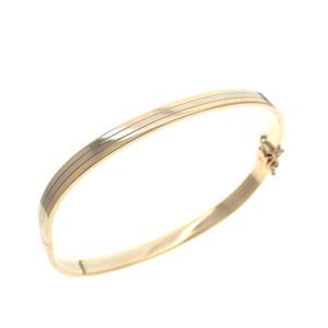 vintage gouden slagen armband bicolor