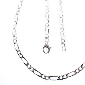 zilveren figaro ketting