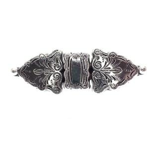 Zilveren broche barok
