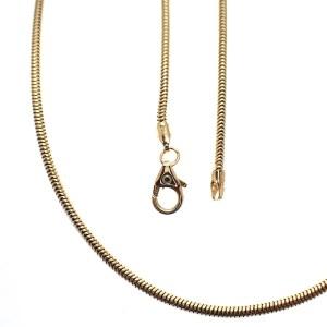 gouden slangen schakel collier