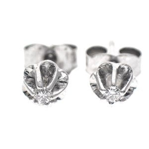 witgouden oorstekers met diamant