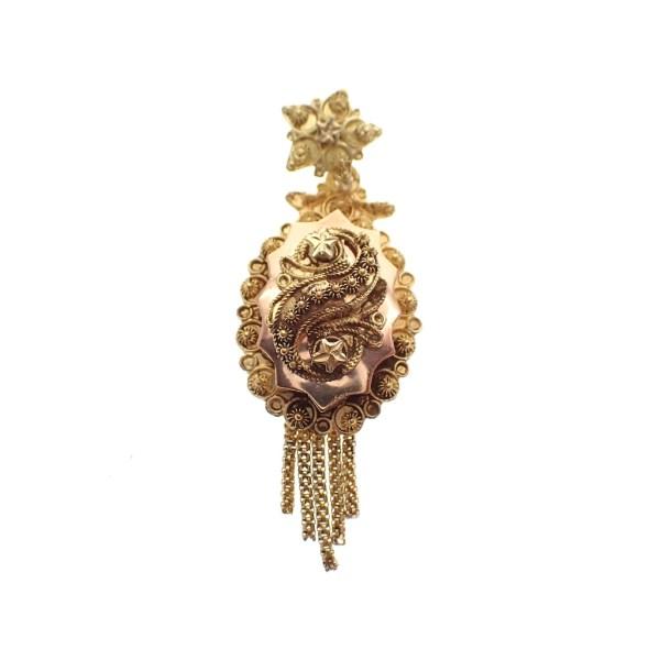 gouden hanger mutsenbel antiek