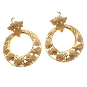 vintage gouden oorbellen 18 karaat