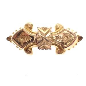 antiek gouden broche bijbel slot