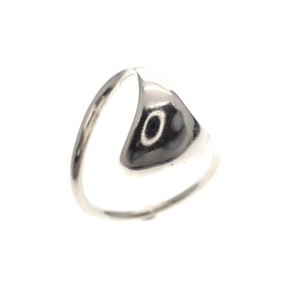 zilveren ring van golf