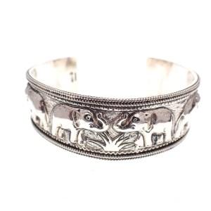 zilveren armband olifanten, thais bohemian