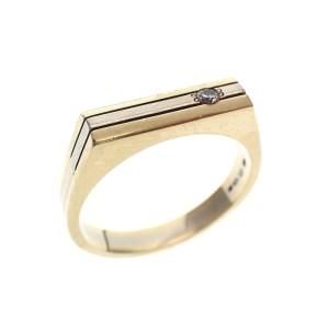 bicolor gouden ring zirconia