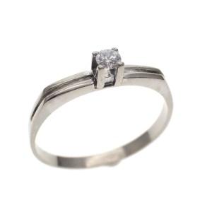 witgouden ring met steen