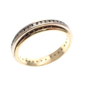 bicolor gouden aliance ring diamanten