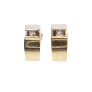 bicolor oorstekers gematteerd met diamant