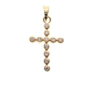 hanger van kruis met kristal