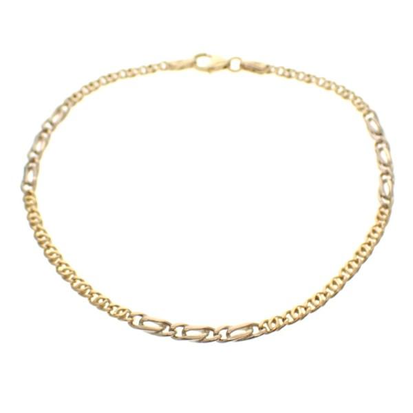 bicolor gouden armbandje
