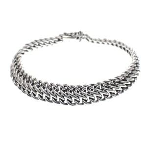 franse gourmet armband zilver