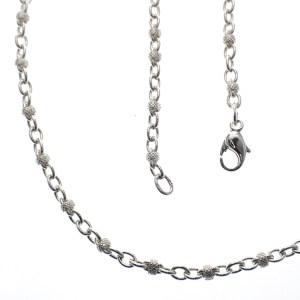 lange zilveren ketting