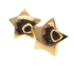 Ster oorbellen goud