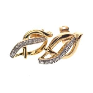 gouden oorstekers met diamant