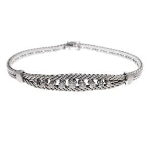 witgouden armband met diamanten dames