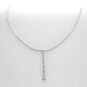 witgouden collier met diamant