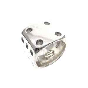 dobbelsteen ring zilver mandelkern