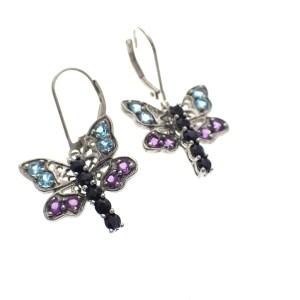 zilveren meisjes oorbellen vlinder