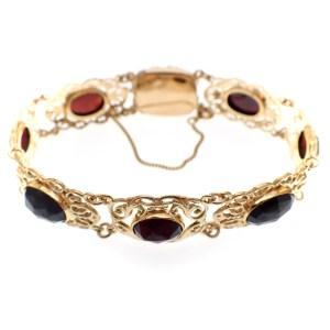 gouden bootjes armband granaat