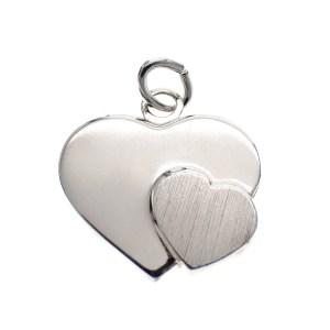 zilveren ketting hanger hartje