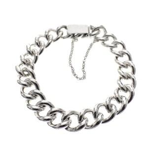zilveren grote dames armband
