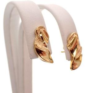 gouden oorbellen organisch