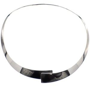 zilveren kraag collier
