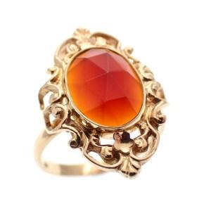 gouden dames ring vintage