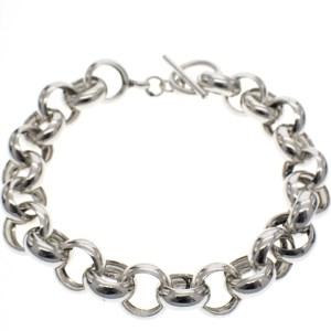 grote schakel armband zilver