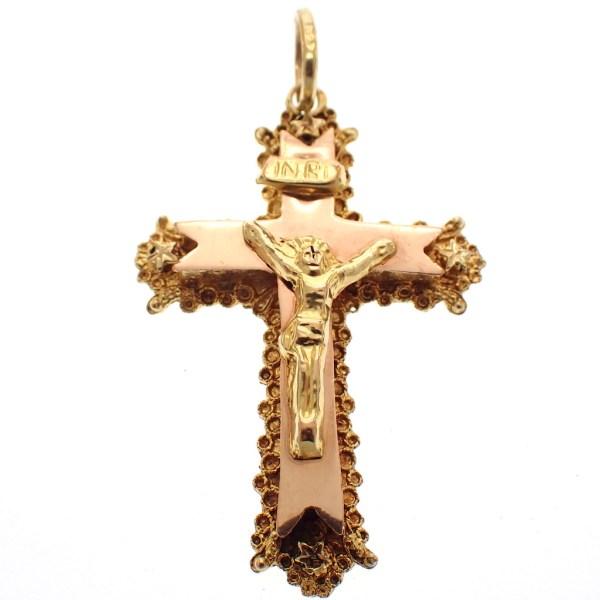 antiek gouden kruis