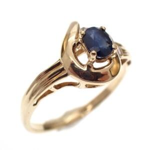 gouden ring saffier dames