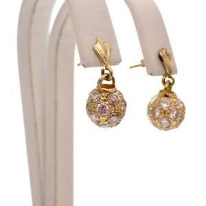 gouden oorbellen meet hanger