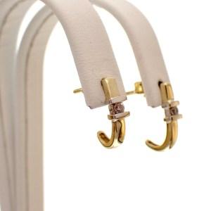 gouden half ronde oorstekers