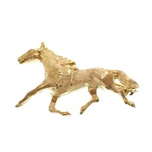 gouden paard broche