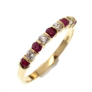 gouden ring met robijn dames