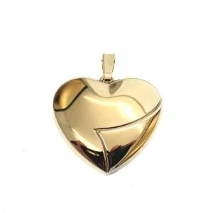 gouden hanger groot hartje