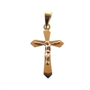 gouden kruisje met corpus hanger