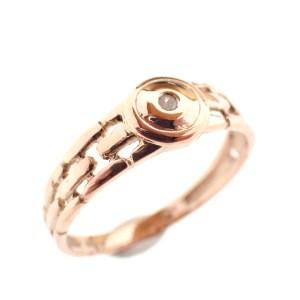 rosegouden dames ring