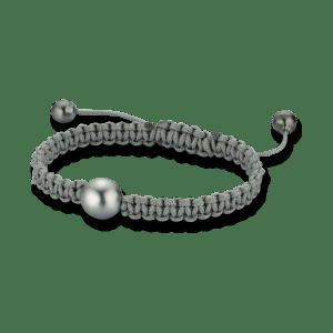 Gellner Armschmuck Divers. Gellner Basic PS Armband aus Nylon mit 3 Tahiti-Perlen Größe 17 cm.