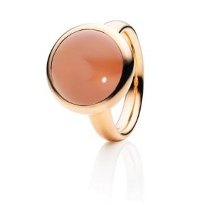 Capolavoro Ring Velluto 750 Roségold Mondstein orange RI9MOR02560