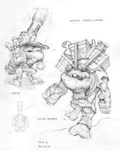 Outlaw character concept art from Oddworld: Stranger's Wrath. (Silvio Aebischer, courtesy image)