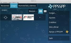 Emulador juegos psp en Ubuntu