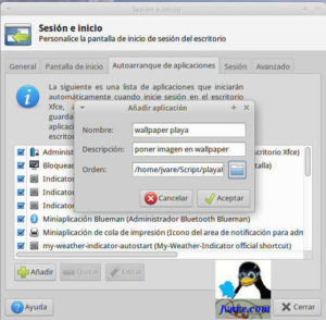 Añadir programas en inicio a Xubuntu
