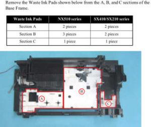 Waste Ink pad Multifunción Epson de tinta SX410