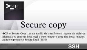 SCP para copiar ficheros a servidor con ssh