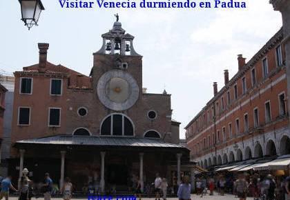 Visitar Venecia durmiendo en Padua
