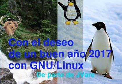 Felices Fiestas y buen año 2017 con GNU/Linux